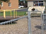 Playground improvements were among the 30 Eagle project helping churches and recreational areas in the NRV.