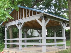 This shelter is located at Christiansburg's Downtown Park and constructed by an Eagle Scout. There have been 25 shelters constructed and improvements made to 16 recreation areas in the NRV.