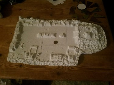 Monte Alban Main Plaza, printed in 9 parts