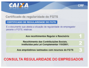 CONSULTA REGULARIDADE DO EMPREGADOR
