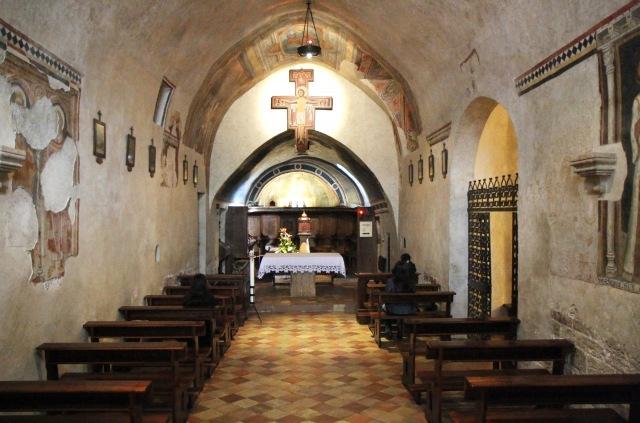Inside of San Damiano Church today