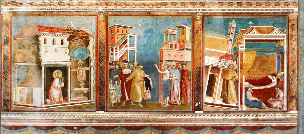 Icons of Francis painted by Giotto