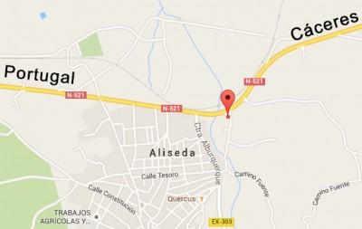 Mapa-restaurante-la-monteria-aliseda-caceres-extremadura
