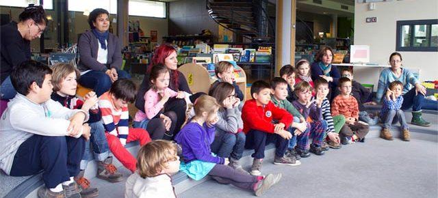 Sortie des primaires Montessori à la Médiathèque