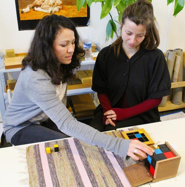 Ecole montessori International Bordeaux - formation sensorielle