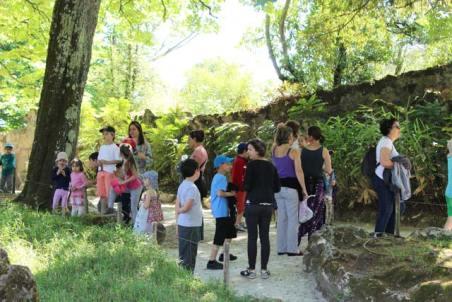 Accès grotte - parc Majolan - école Montessori Internationale Bordeaux