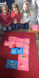 objets lettres rugueuses montessori