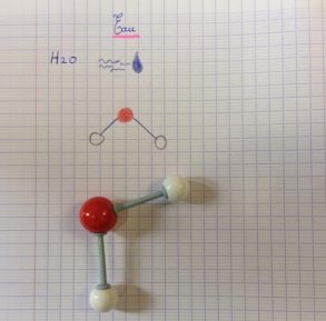Montessori International Bordeaux : sciences, dessin molécule eau h2o