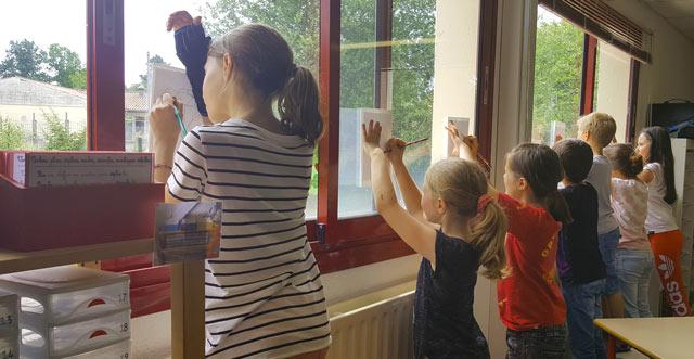 Montessori International de Bordeaux-Gradignan aquarelle dessin
