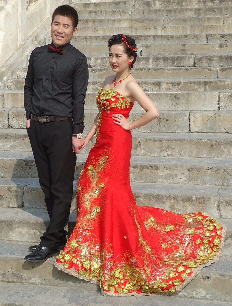 CHINESE RED WEDDING DRESS