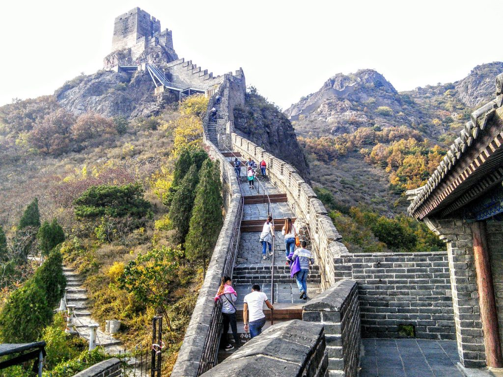 THE GREAT WALL OF CHINA STAIRS