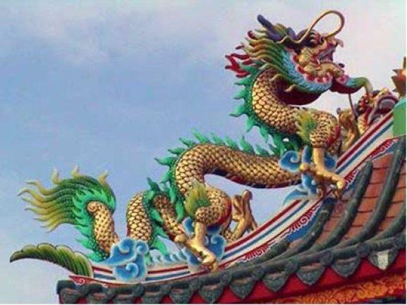 DRAGON SIMBOL ON CHINESE ROOF