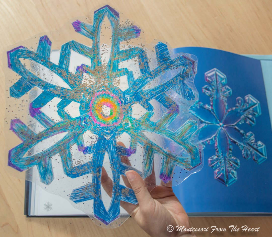 Paper Snowflake craft from The Secret Life of a Snowflake book