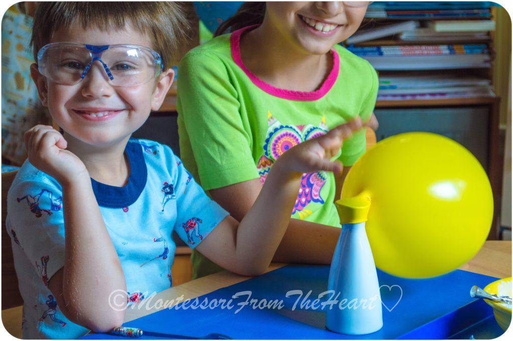 Baking Soda Vinegar Balloon STEM Experiment