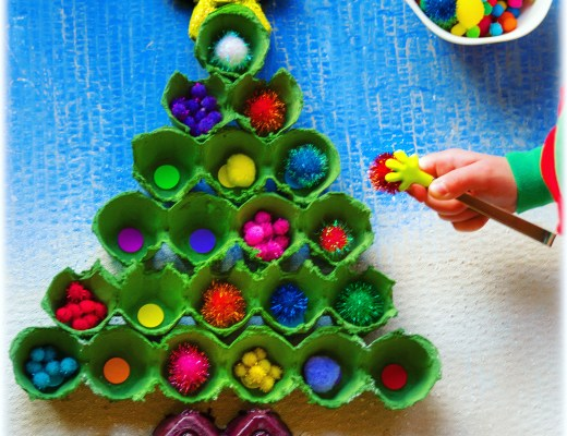 Recycled Egg-Carton Christmas Tree