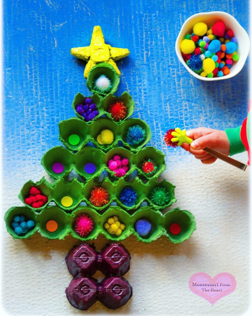 Recycled Egg-Carton Christmas Tree