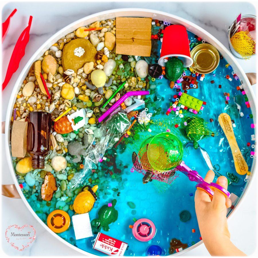 Ocean-Pollution-Rescue-Turtles-Sensory-Bin