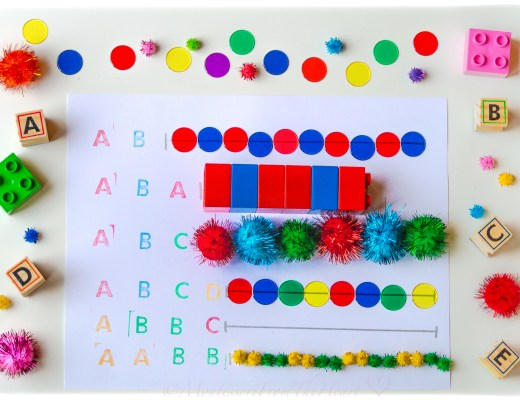 DIY Patterning Kids Activity Numeracy Early learning