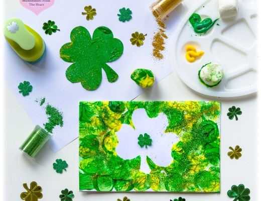 Marshmallow Shamrock Stamping Kids Craft St Patrick's Inspired