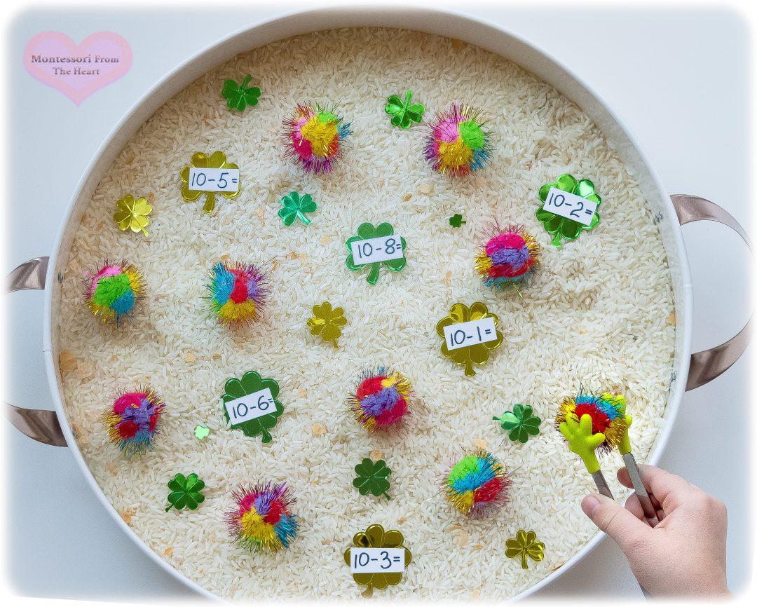 Rainbow-Pom-Poms-Sensory-Bin-Subtraction-Kids-Activity