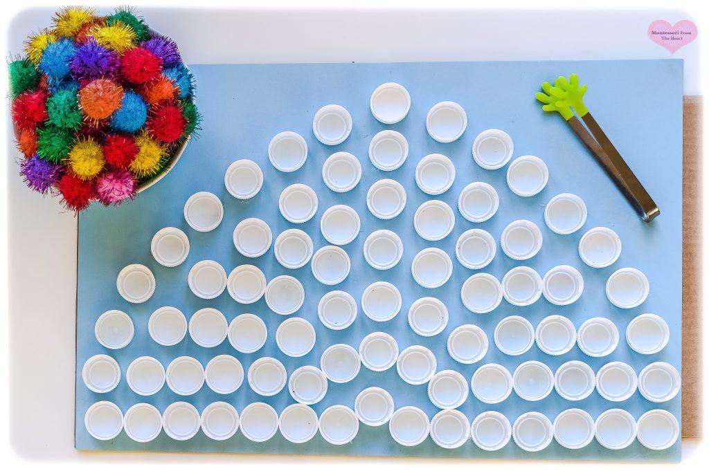 Recycled-Bottle-Caps-Pom-Poms-Rainbow-DIY-St.Patricks