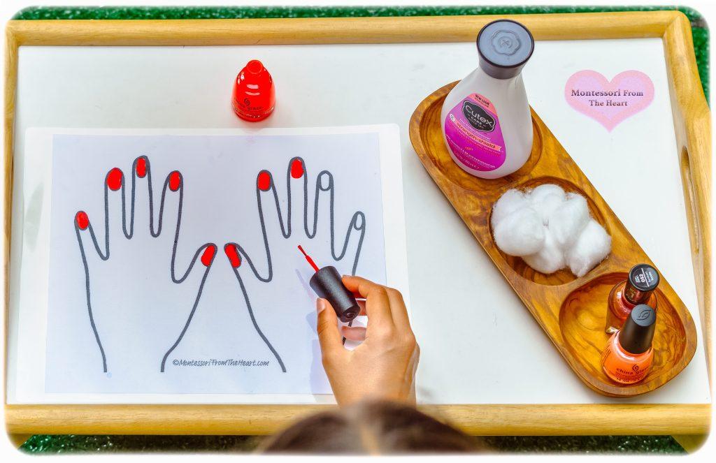 Nail-polishing-kids-activity
