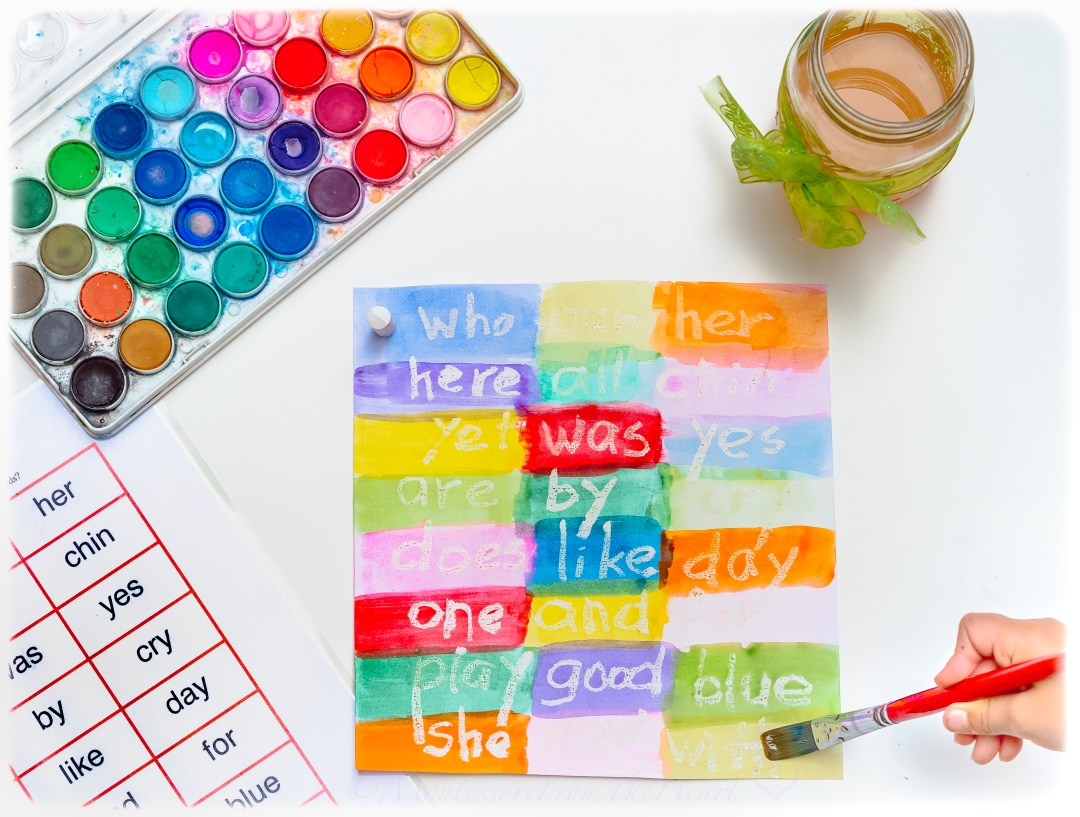 Magic White Crayon Sight Words See and Read
