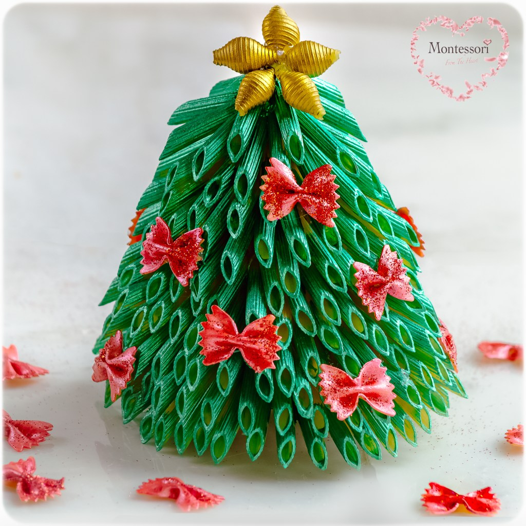 Pasta-Christmas-Tree-Craft