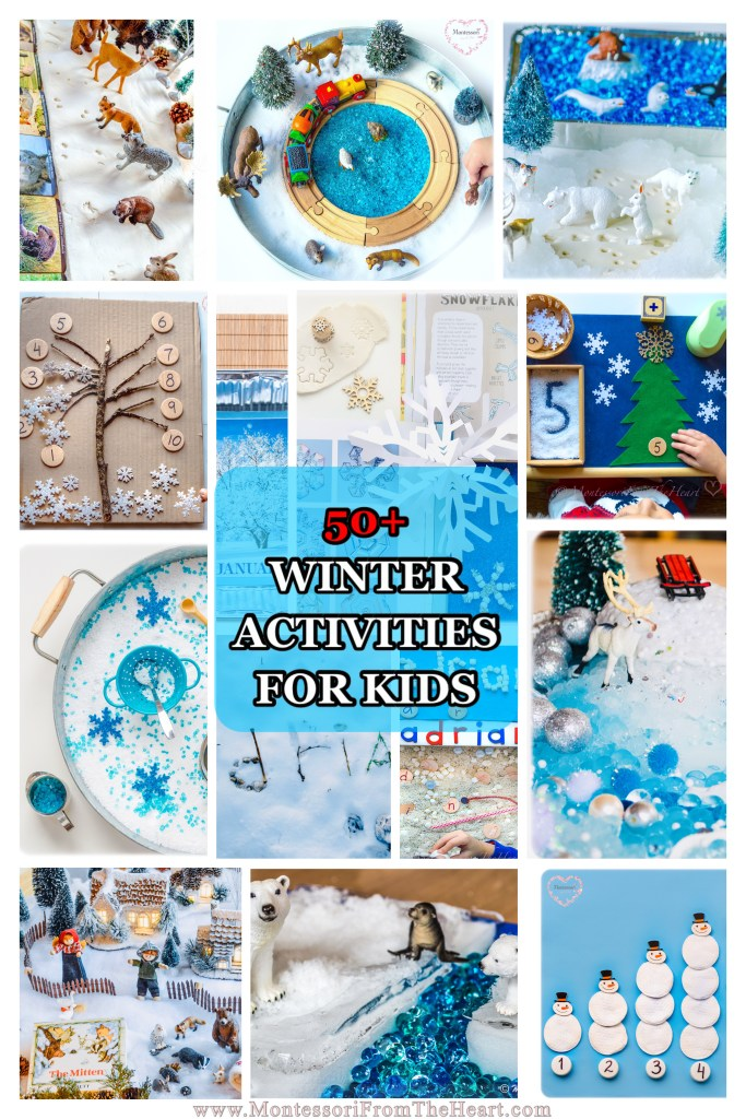 50+ Best WINTER Activities for Kids and Preschoolers-Taste-Safe Winter Sensory Play