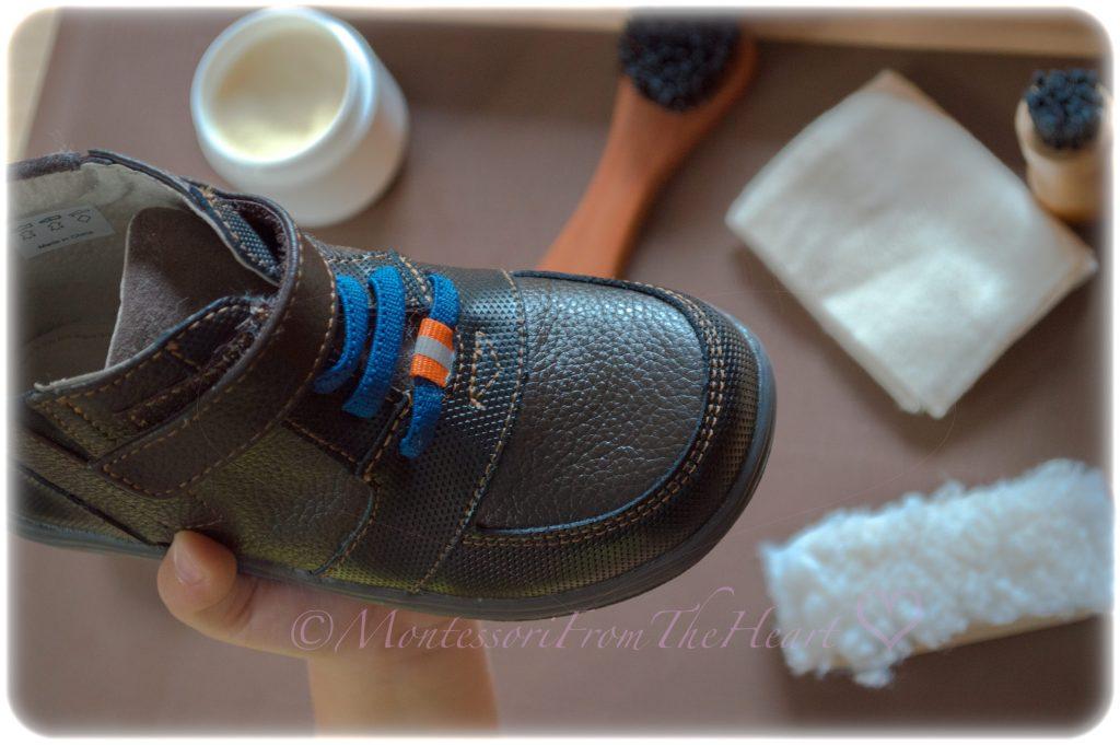 Montessori-Practical-Life-shoe-leather-kids-polishing-activity