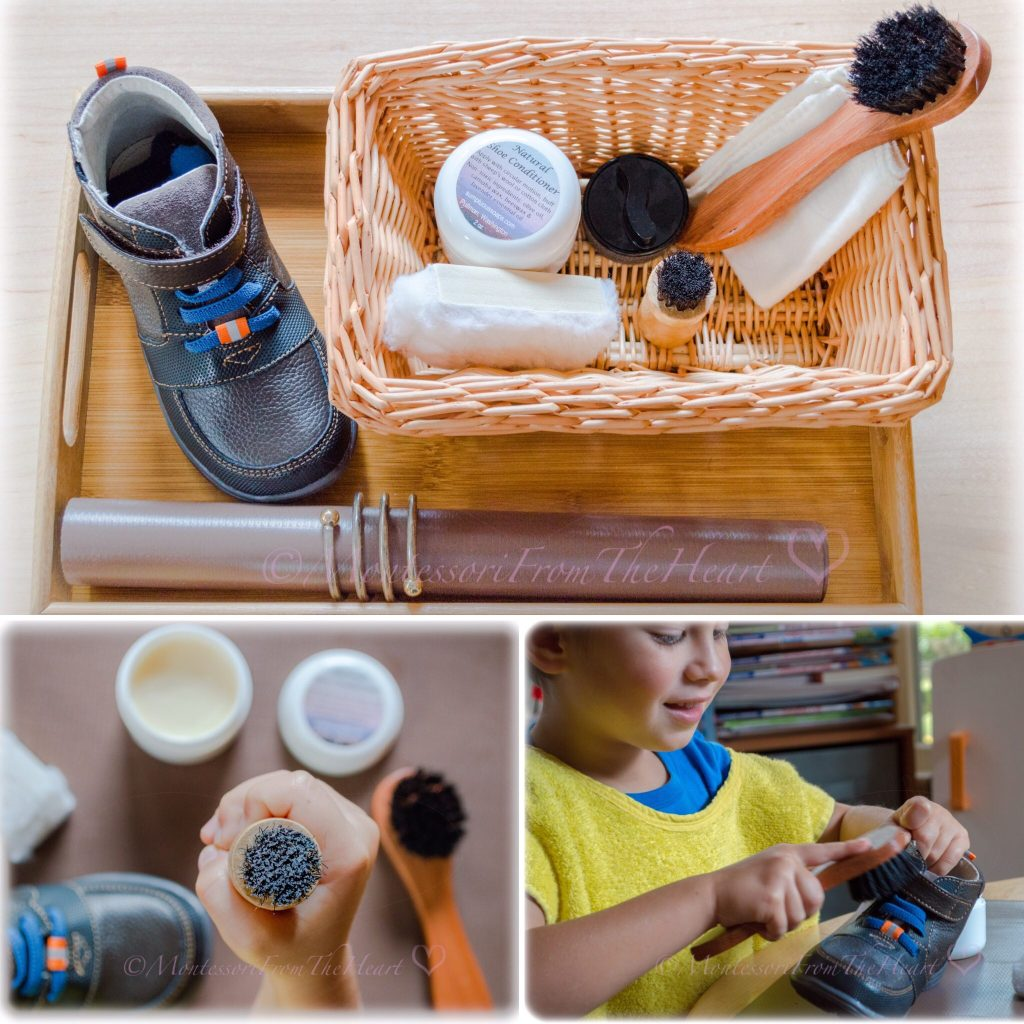 Shoe-Leather-Polishing-Activity-Montessori Practical-Life-Care-of-Self-and-Others