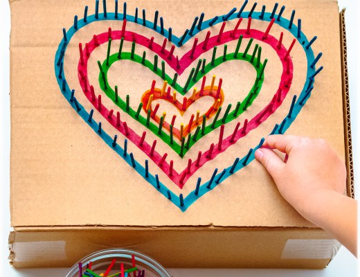 Cardboard-Hearts-Match-Stick-Poke