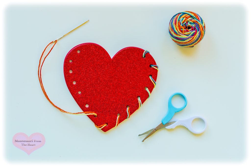 Glitter-Heart-Needle-Sewing