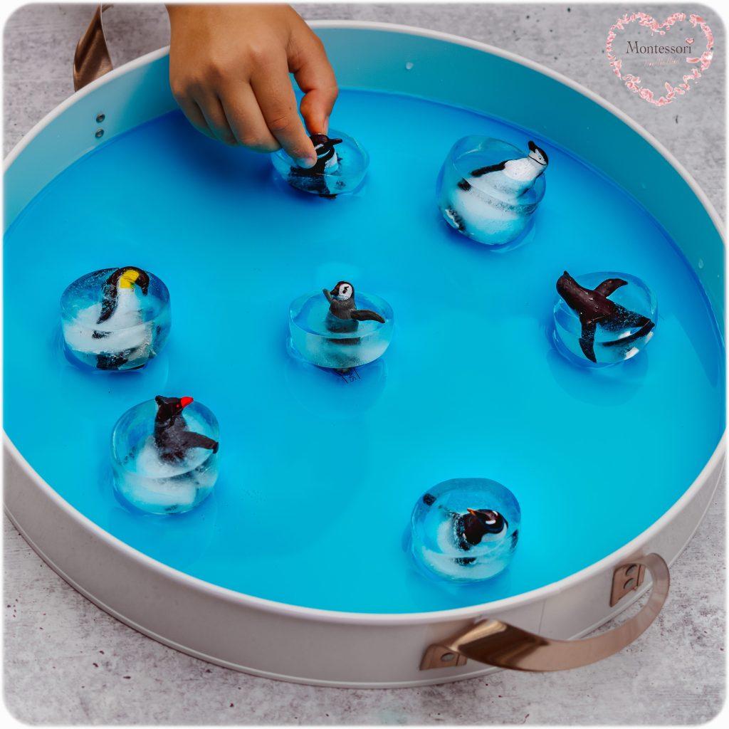 ICESKATING PENGUINS Sensory Play-Toddler-Preschool