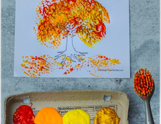 AUTUMN TREE DISH-BRUSH PAINTING