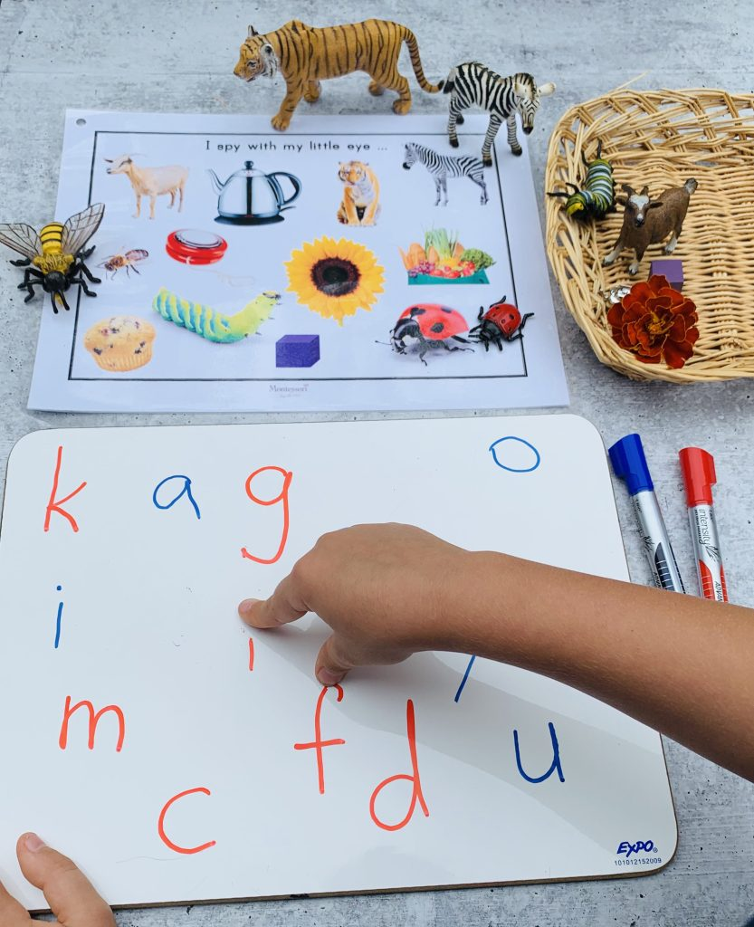 I SPY GAME-SAY AND ERASE phonological awareness TODDLER ACTIVITY