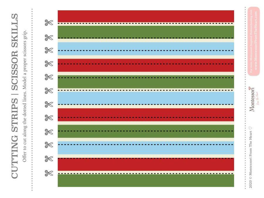 Holiday SCISSOR SKILLS | Montessori Christmas Pack