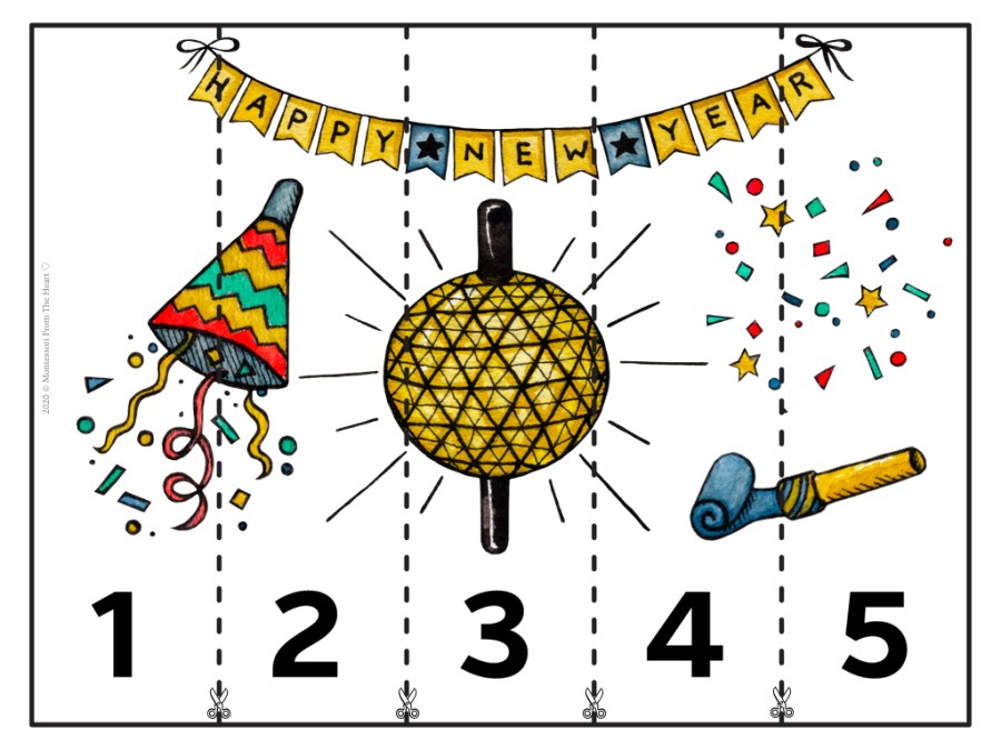 NEW YEAR's EVE PUZZLE STRIP 1-5