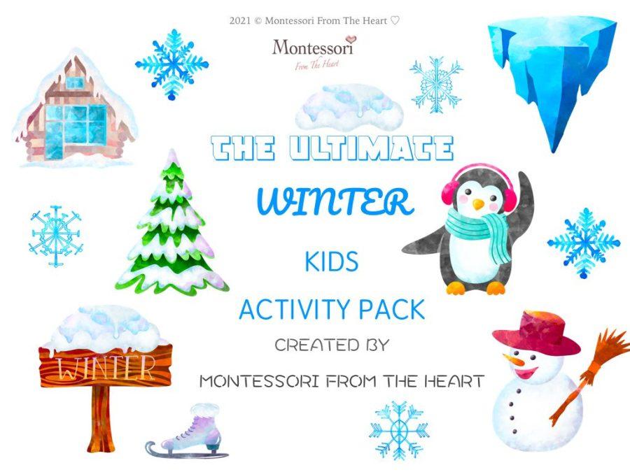 ULTIMATE WINTER Montessori Kids Activity Pack