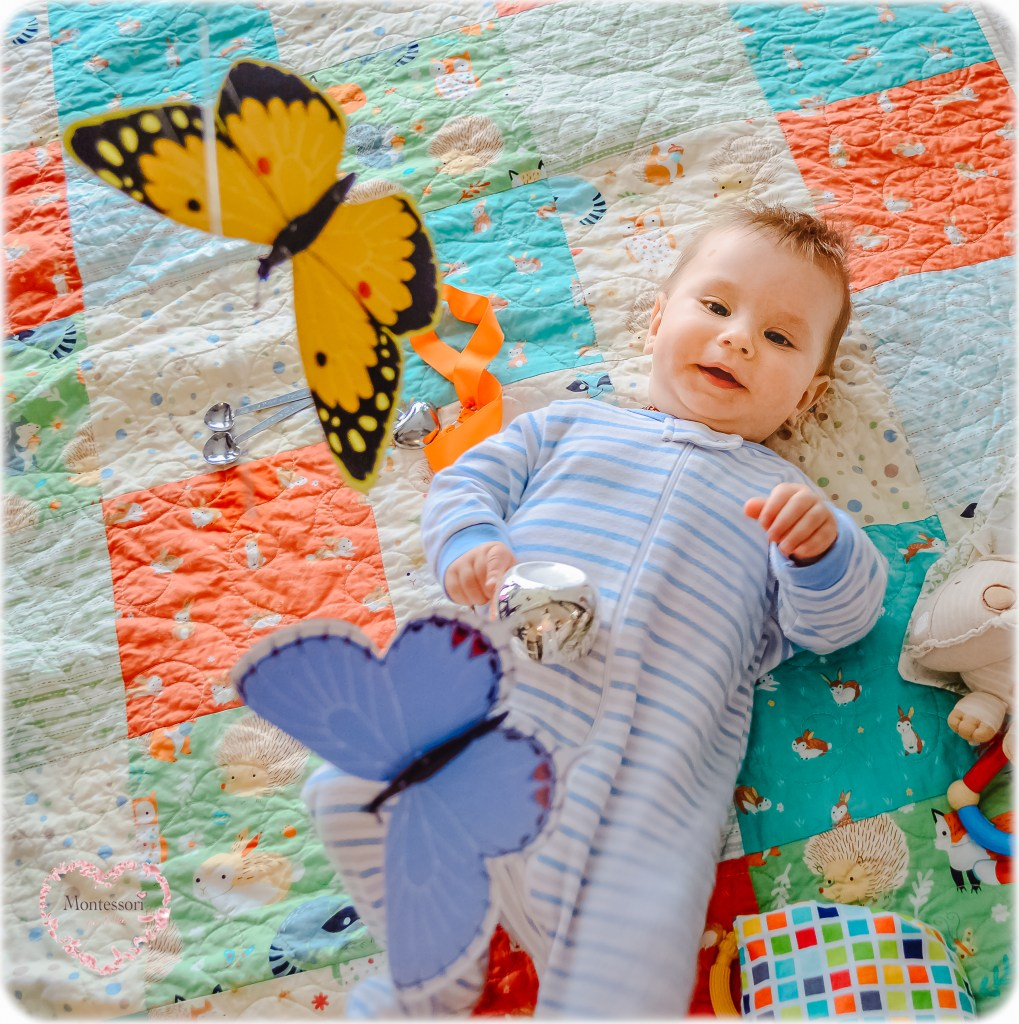 MONTESSORI BABY 6 MONTHS Butterfly Mobile