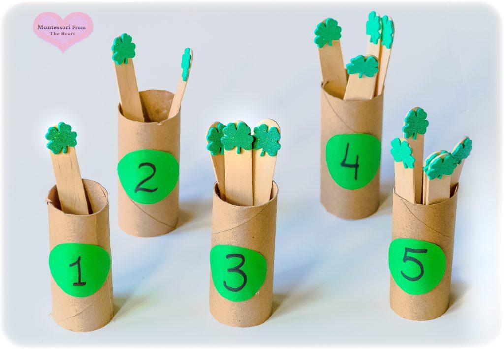 DIY Clover-Spindles-Montessori