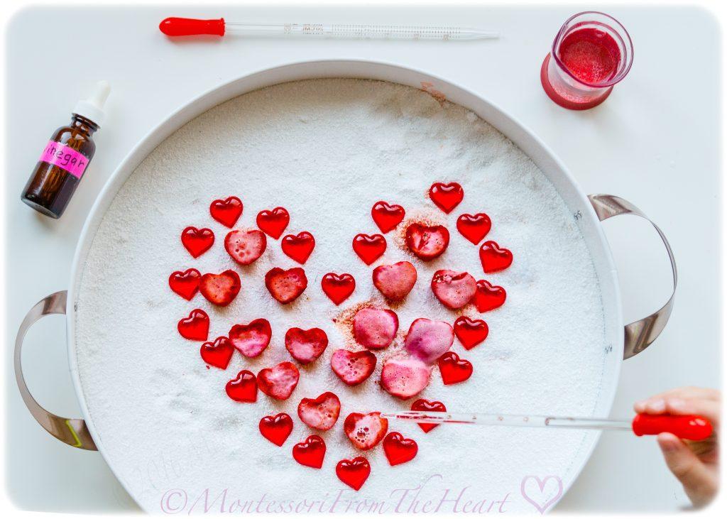 VALENTINES HEARTS ACID BASE REACTION