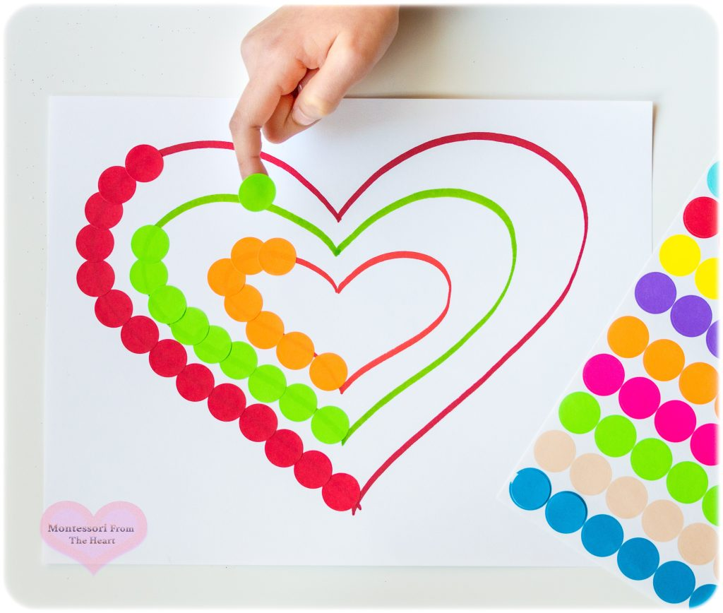 HEARTS COLOR DOT STICKER MATCHING