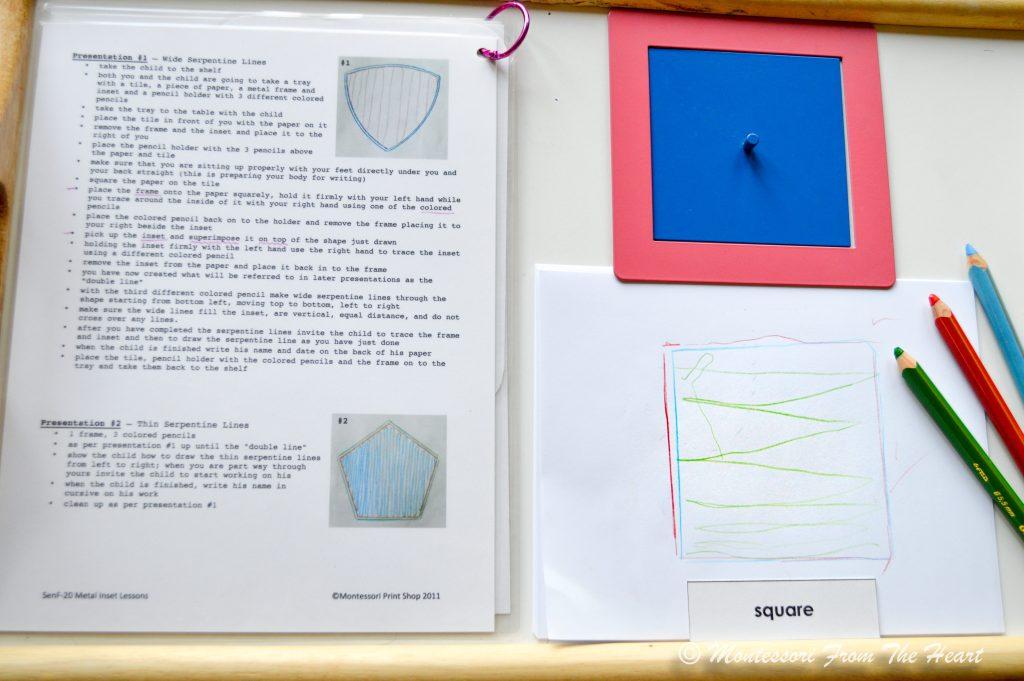Tracing Square Montessori Metal Inset