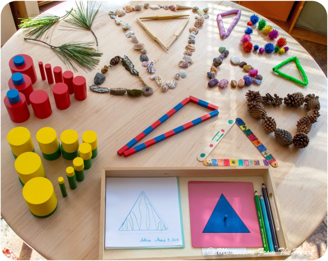 EXPLORING TRIANGLE SHAPE Montessori Geometry