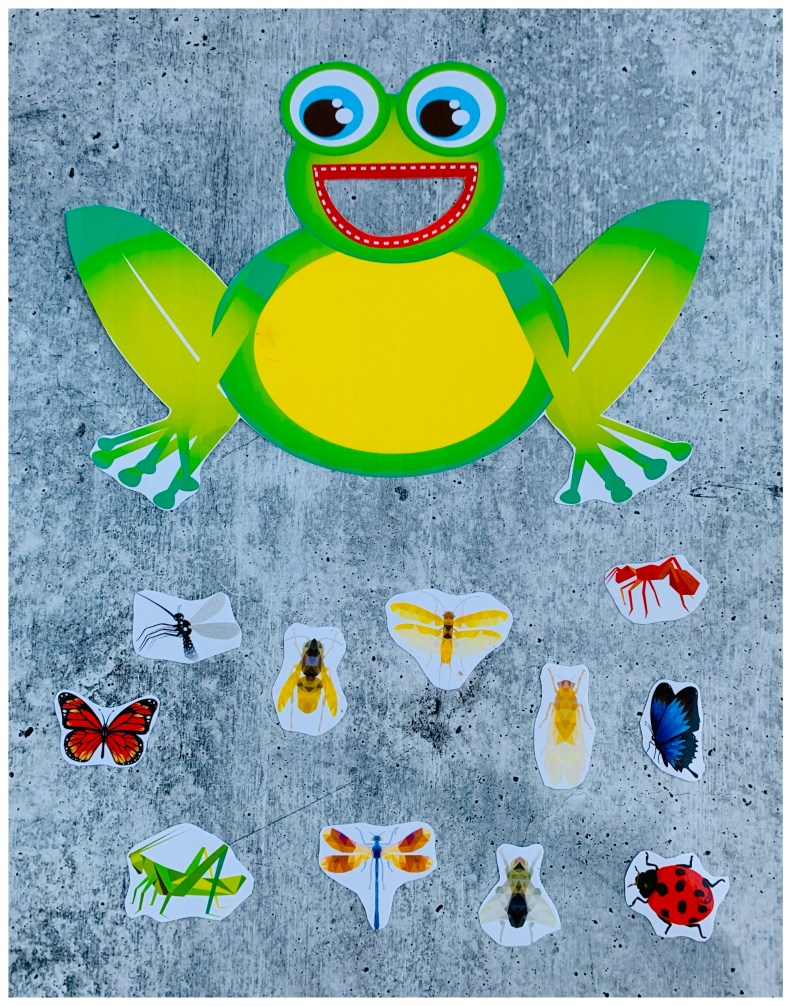 *FEED THE FROG PRINTABLE Cut Outs