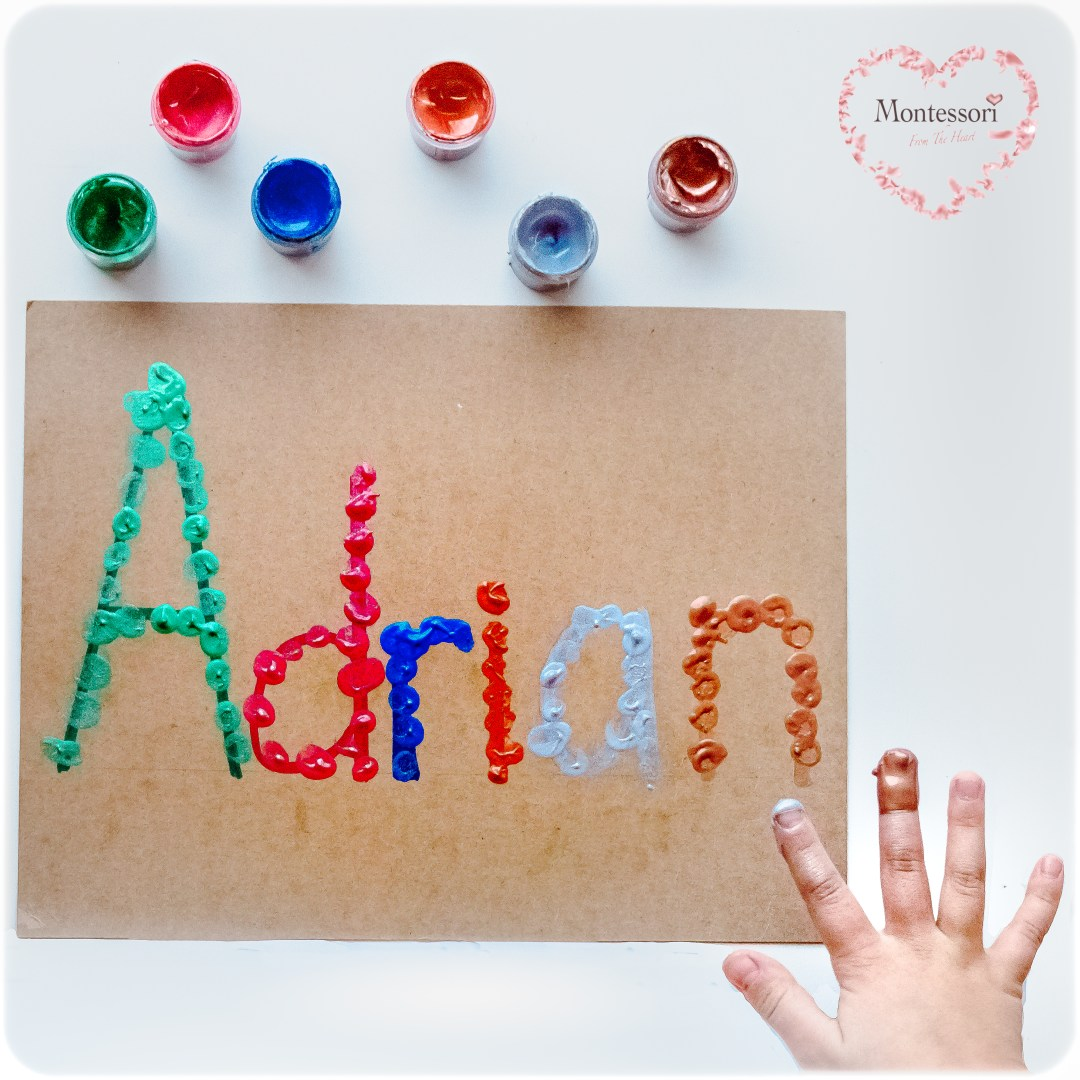 Name-Recognition-Finger-Painting