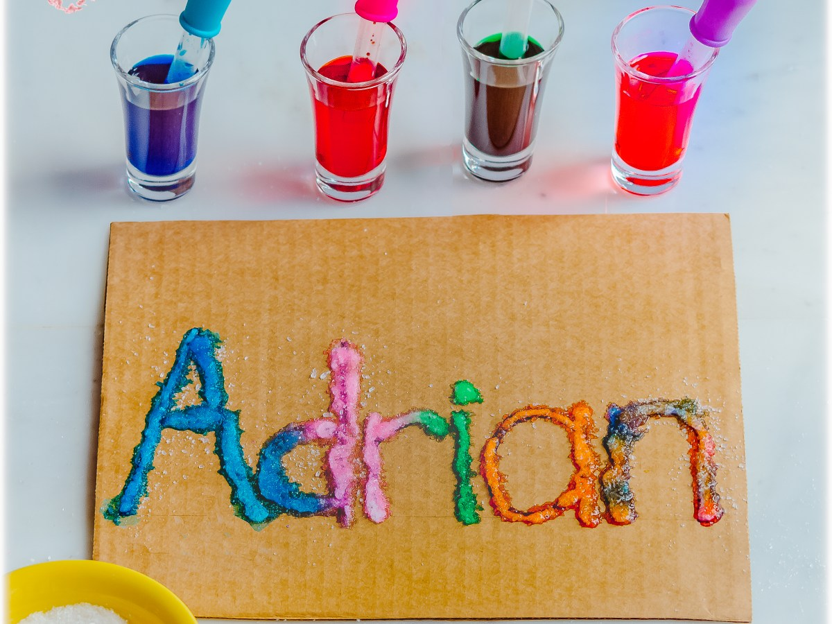 SALT-PAINTING_NAME-RECOGNITION-PRESCHOOL KIDS ACTIVITY