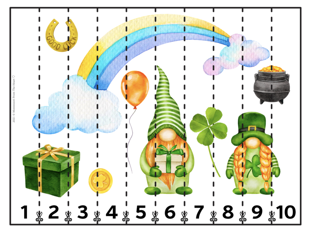 St. Patrick's Day STRIP PUZZLES FOR KIDS