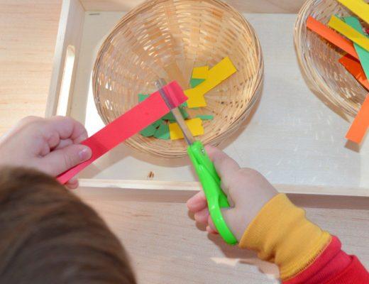 Cutting Paper Snips 2 YO
